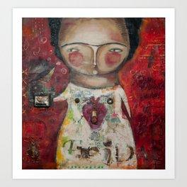 En la Ausencia - Frida  Art Print