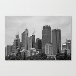 Retro Skyline Canvas Print