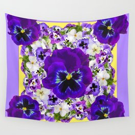 PURPLE PANSIES GARDEN LILAC ART Wall Tapestry