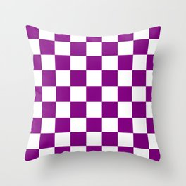 Checker (Purple/White) Throw Pillow