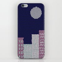 buildings iPhone & iPod Skins featuring Buildings by Marie Libot