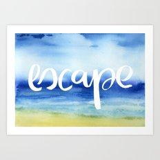 Escape [Collaboration with Jacqueline Maldonado] Art Print