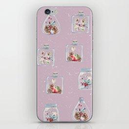 Christmas Pattern Pink iPhone Skin