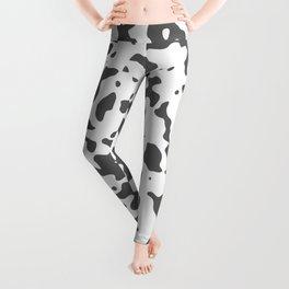 Spots - White and Dark Gray Leggings