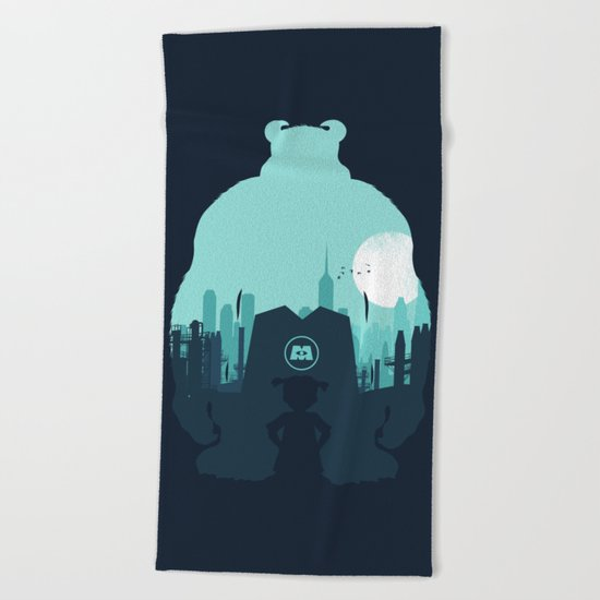 Welcome To Monsters, Inc. Beach Towel
