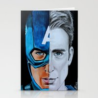 steve rogers Stationery Cards featuring Steve Rogers by Goolpia