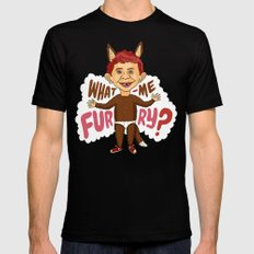 What—me furry? Mens Fitted Tee Black MEDIUM