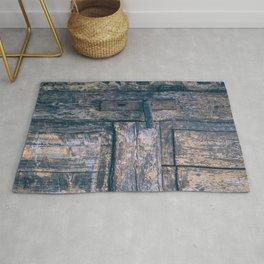Weathered Wooden Door Rug
