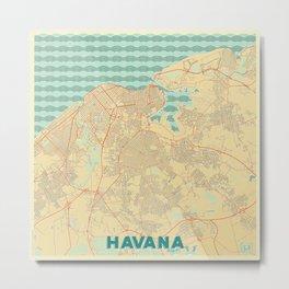 Havana Map Retro Metal Print