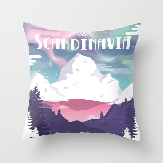 See Scandinavia Throw Pillow