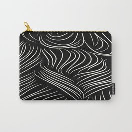 Abstract Lines - Tussled Hair TopKnot Carry-All Pouch