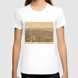 Vintage Pictorial Map of Kalamazoo Michigan (1874) T-shirt
