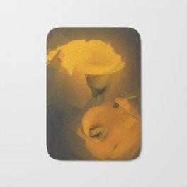 Calla Lily Warm Yellow Cubist Effect Bath Mat