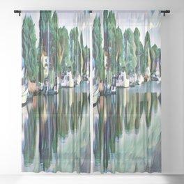 Lagoon Reflections Sheer Curtain