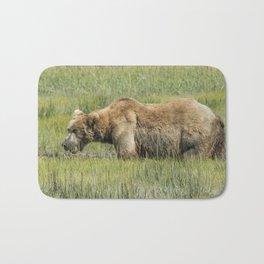 Brown Bear Grazing Bath Mat