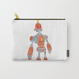 brown robot with lamp head Carry-All Pouch