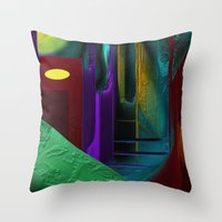 street Throw Pillows featuring Street by Turul