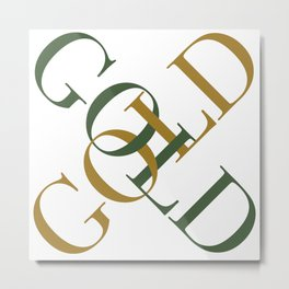 Green Gold Metal Print
