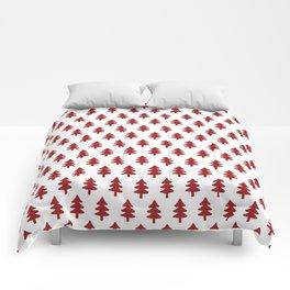 Hand drawn christmas trees Comforters
