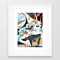 jungle Framed Art Prints featuring Jungle by Adelina Mehmeti