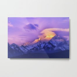 Meili Snow Mountain Shangri-la China Sunrise Metal Print
