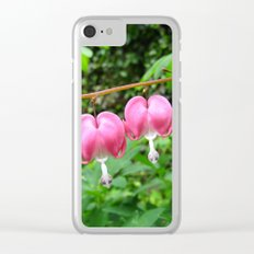 Bleeding Hearts - Dicentra Clear iPhone Case