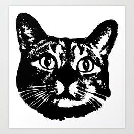 Cat Icon Art Print