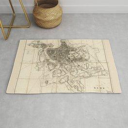 Plan of Rome Map (circa 1856) Rug