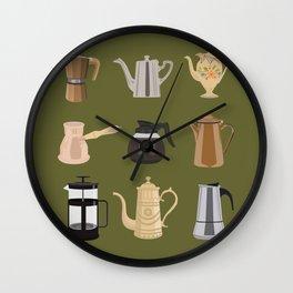 Coffee Pots Wall Clock