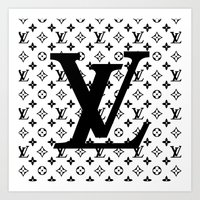 lv Art Prints featuring lv   pillow by HeyShay