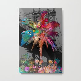 Palm Tree in New York Metal Print