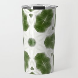 Green White Kaleidoscope Art 6 Travel Mug
