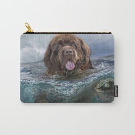 Majestic Newfoundland Dog Swimming Ultra HD Carry-All Pouch