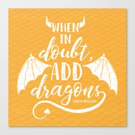 Add Dragons Canvas Print