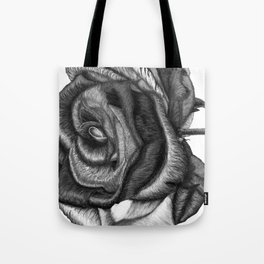 In Contrast to Color (Rainbow Rose, B & W) Tote Bag