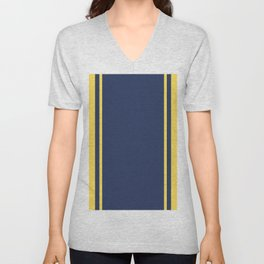 Yellow and Blue Pattern Unisex V-Neck