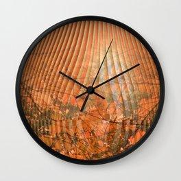 Shimmering Nature's Magic Wall Clock