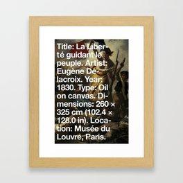 Liberty Leading the People, Eugène Delacroix, Musée du Louvre, Paris  Framed Art Print