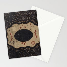 Vintage Japanese lacquer box pattern Stationery Cards