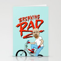breaking Stationery Cards featuring Breaking Rad by Chris Piascik