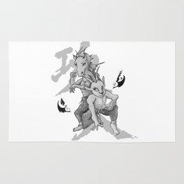 KungFu Zodiac - Horse and Goat Rug