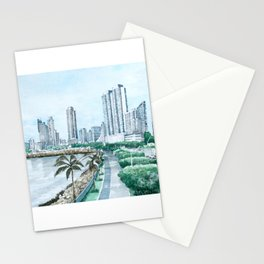 Urban watercolor - Panama Stationery Cards