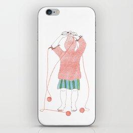 Knitster Girl Turtleneck iPhone Skin