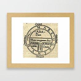T and O map Guntherus Ziner 1472 Framed Art Print