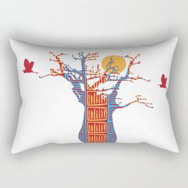 African Baobab tree of life at Sunset Rectangular Pillow