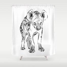 Shy Hyena, Inktober 2017 Shower Curtain