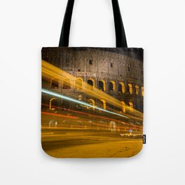 Zooming past the Colosseum Tote Bag