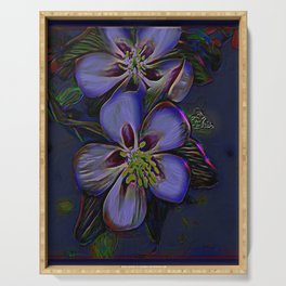 Floral Embosses: Double Columbine 01-02 Serving Tray