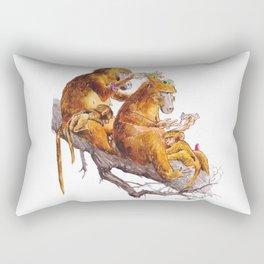 monkeys habits Rectangular Pillow