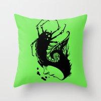 bug Throw Pillows featuring Bug by leonardoariza